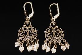 Delicate golden earrings