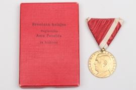 Croatia - Bravery Medal in gold in case