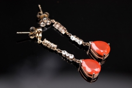 Silver carnelian earrings