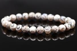 Polished gemstone bracelet