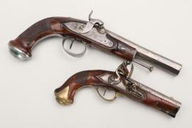 2 + early 19th century flintlock pistols