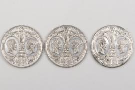 "Great Britain - 3 + Commemorative Medals ""Visit of Napoleon III"""