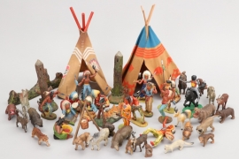 Elastolin - Konvolut Indianer und Tiere