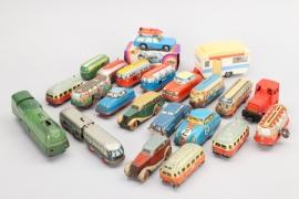 Großes Konvolut Blechspielzeug Autos