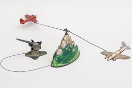 Flugabwehrspiel aus Blech