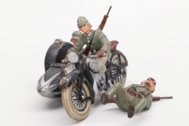 Elastolin - Motorrad mit Beiwagen Wehrmacht