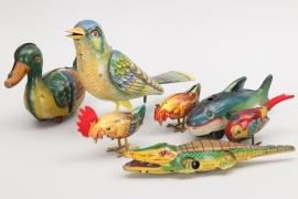Konvolut Blechspielzeug Tiere