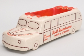 """Keramik Aschenbecher in Busform """"Paul Rosenkranz"""""""