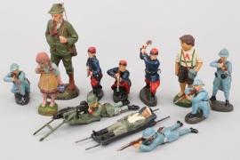 Elastolin - Lineol - Konvolut Soldaten und Bauern
