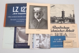 Imperial Germany -Zeppelin lot of photos, postcards & booklets
