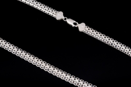 Elegant Italian silver necklace