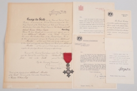 Great Britain - Order of the British Empire MBE grouping