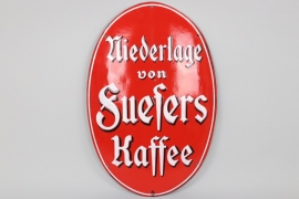 """Fuesers Kaffee"" enamel sign circa 1905"