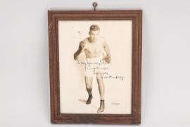 Jack Dempsey - signed autograph to Bennie Kruger