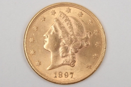 "USA - 1897 Liberty Head ""20 Dollars"" gold coin"