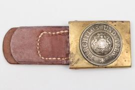 Württemberg - EM/NCO buckle with leather tab