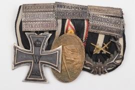 """WWI """"Karpathenkorps"""" 3-place medal bar + battle clasps"""