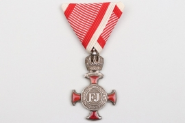Austria - Franz Joseph Silver Merit Cross with Crown