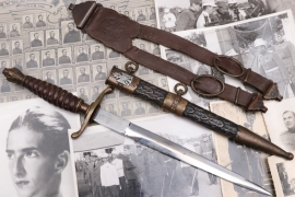 Yugoslavia - army officer's dagger M39 with hangers & photos