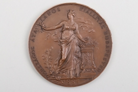 Hungary - Large Art Nouveau bronze plaque
