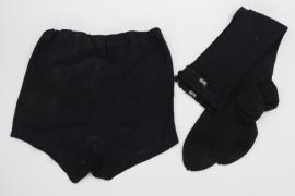 BDM stockings & sport shorts