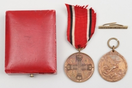 Imperial Germany - China Medal 1901 + battle clasps & Red Cross Medal