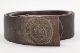 Prussia - fieldgrey buckle M1895 with belt - EM/NCO