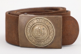 Prussia - M1895 buckle & belt - EM/NCO