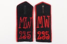 Imperial Germany - two shoulder boards Minenwerferkompanie 235