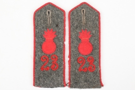Prussia - Feldartillerie Reg. 23 shoulder boards - EM