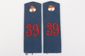 Prussia - Inf.Rgt.39 shoulder boards - EM