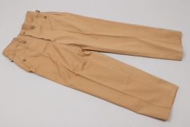 Luftwaffe straight tropical trousers