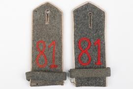 Prussia - M1915 shoulder boards Inf.Rgt.81 - EM