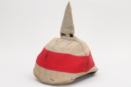 Imperial Germany - camo cover for officer's spike helmet with manoeuvre ribbon