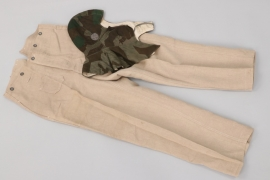 Heer drill trousers & camo winter hat
