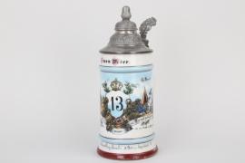 "13.Inf.Rgt.""Kaiser Franz Josef"" reservist's mug"