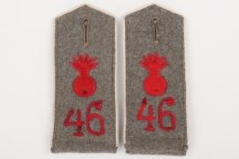 Prussia - M10 shoulder boards Feldartillerie Regiment 46 - EM