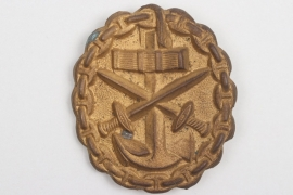 Imperial Germany - Kaiserliche Marine Wound Badge in gold 1918