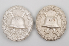Imperial Germany - 2 Wound Badges in silver