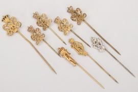 "Imperial Germany - patriotic ""Kaiser Wilhelm"" lapel pins"