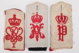 Prussia/Oldenburg - 3 shoulder boards - EM