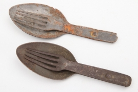 "Imperial Germany - two ""Göffel"" forks & spoons"