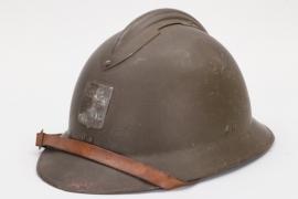 France - M1915 défense passive adrian helmet