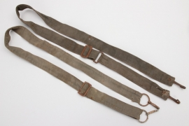 Third Reich - 2 + Wehrmacht bread bag shoulder straps