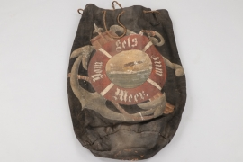 Imperial Germany - Sea bag with patriotic motive
