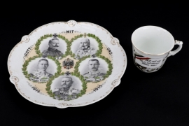 Imperial Germany - Patriotic cup and plate