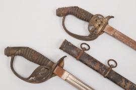 Prussia - 2 M1889 infantry officer's sabres