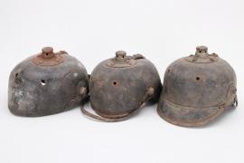 Prussia - 3 + M1915 spike helmets