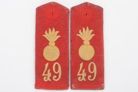 Württemberg - M1915 Feldartillerie-Regiment 49 shoulder boards - EM/NCO