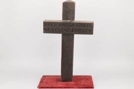 Grave cross of three unknown German soldiers